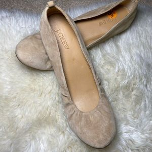 J.Crew suede leather flats new 8.5 size